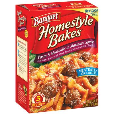 Banquet Homestyle Bakes  Pasta & Meatballs In Marinara Sauce 36.6 Oz Box