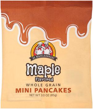 De Wafelbakkers® Maple Whole Grain Mini Pancakes 3.0 oz. Bag