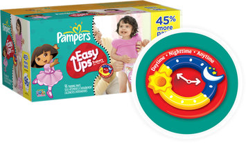 Pampers® Easy Ups Value Pack Girls Size 3T-4T Training Pants 96 ct Box
