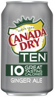 Canada Dry® TEN® Ginger Ale 4-12 fl. oz. Cans