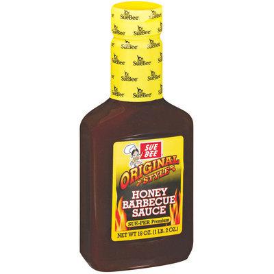 SueBee Original Style Honey Barbecue Sauce 18 Oz Squeeze Bottle