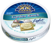 Crystal Farms® Light Garden Ranch Cheese Wedges 4 oz. Package