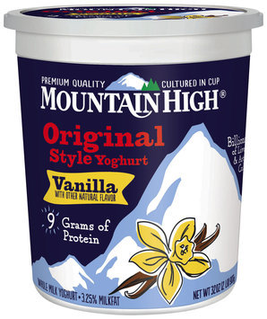 Mountain High® Vanilla Original Style Yoghurt 32 oz. Tub