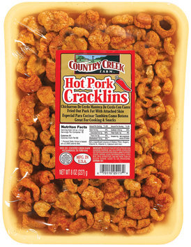 Country Creek Farm Hot Pork Cracklins 8 Oz Tray