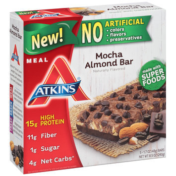 Atkins® Mocha Almond Meal Bars 8.5 oz. Box