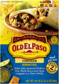 Old El Paso™ Chicken Burritos 2 ct Box