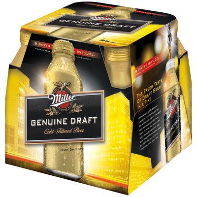 Miller® Genuine Draft Cold-Filtered Beer 9-16 fl. oz. Bottle