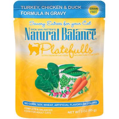 Dick Van Patten's Natural Balance® Platefulls™ Turkey, Chicken & Duck in Gravy Ultra Premium Wet Cat Food 3 oz. Pouch