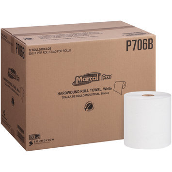 Marcal Pro-Putney White Hardwound Roll Towel 12 ct Box