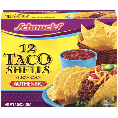 Schnucks Yellow Corn Authentic Taco Shells 12 Ct Box