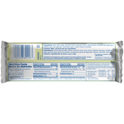DREYER'S/EDY'S Outshine Creamy Coconut Fruit Bar 3.5 fl. oz. Wrapper