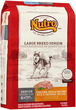 Nutro® Large Breed Senior Chicken, Whole Brown Rice & Oatmeal Recipe Dog Food 30 lb. Bag