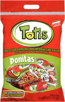 Totis® Fried Flour Chips Chili and Artificial Lime Flavored 11.9 oz.