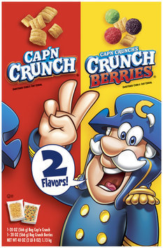 Cap'n Crunch Original & Crunch Berries 20 Oz Split Cereal 2 Ct Box