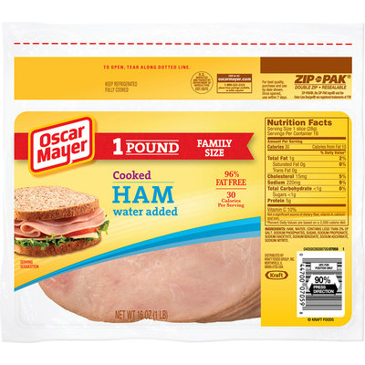Oscar Mayer Cooked Ham Cold Cuts 16 oz. ZIP-PAK®