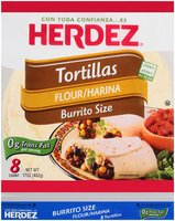 Herdez® Flour Burrito Size Tortillas 17 oz. Bag