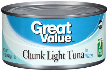 Great Value™ Chunk Light Tuna in Water 12 oz. Can