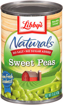 Libby's® Naturals No Salt & No Sugar Added Sweet Peas 15 oz. Can