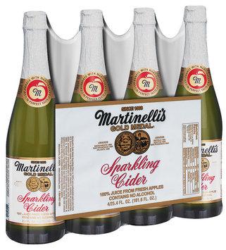Martinelli's Gold Medal® 25.4 Oz Sparkling Cider 100% Juice 4 Pk Glass Bottles