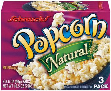 Schnucks Natural 3 Ct Popcorn 10.5 Oz Box