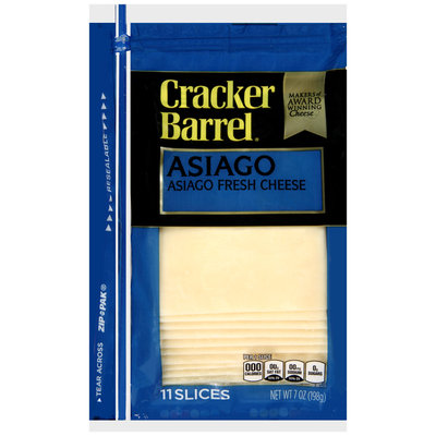 Cracker Barrel® Asiago Fresh Cheese Slices 11 ct ZIP-PAK®