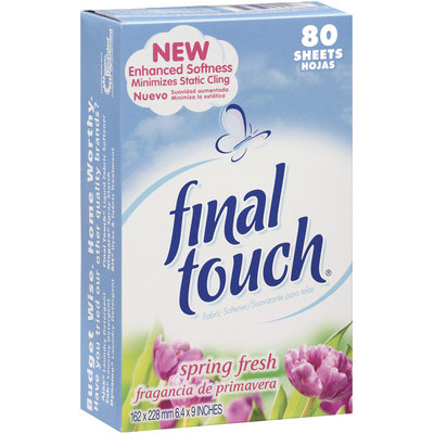 Final Touch Sheets Spring Fresh Fabric Softener 80 Ct Box