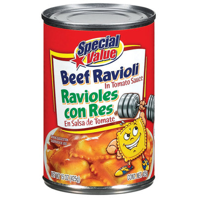 Special Value Beef In Tomato Sauce Ravioli 15 Oz Can