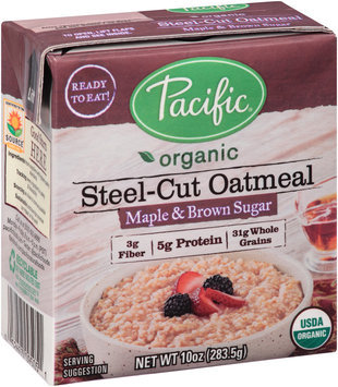 Pacific Organic Maple & Brown Sugar Steel-Cut Oatmeal