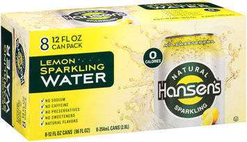 Hansen's Lemon Natural Sparkling Water 8-12 fl. oz. Cans