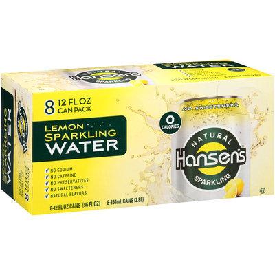 Hansen's Lemon Natural Sparkling Water 8-12 fl. oz. Cans
