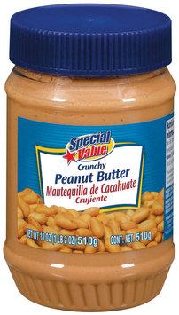 Special Value Crunchy Peanut Butter 18 Oz Plastic Jar