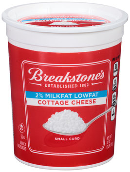 Breakstone's Small Curd 2% Milkfat Lowfat Cottage Cheese 32 oz. Tub