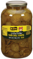 Little Sister Thin Dill Chips Flat Cut Pickles 128 Oz Plastic Jar
