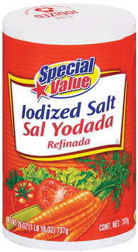 Special Value Iodized Salt 26 Oz Canister