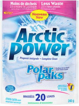 Arctic Power® 20 Loads Fresh Clean Scent Polar Paks™ Laundry Detergent 240g Pouch