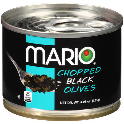 Mario® Chopped Black Olives 4.25 oz. Pull Top Can