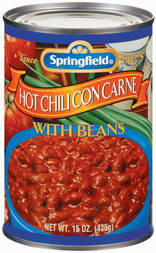 Springfield Hot W/Beans Chili Con Carne 15 Oz Can