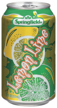 Springfield Lemon Lime  Flavored Soda 12 Oz Can