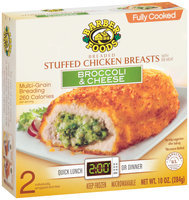 Barber Foods Fully Cooked Broccoli & Cheese 2 Pack Stuffed Chicken Breasts 10 Oz Box