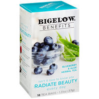 Bigelow® Benefits Blueberry & Aloe Herbal Tea Bags 18 ct Box