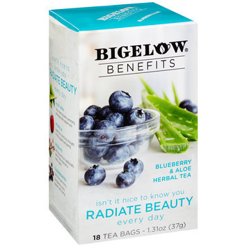 Bigelow® Benefits Blueberry & Aloe Herbal Tea Bags 18 ct Box