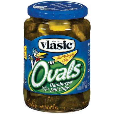 Vlasic Ovals Hamburger Dill Chips Pickles 24 Fl Oz Jar