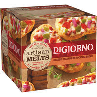 DIGIORNO Artisan Style Melts Classic Italiano on Focaccia Bread Frozen Pizza Box