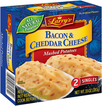 Larry's® Bacon & Cheddar Cheese Mashed Potatoes 2 ct. Box