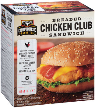 Steak-Eze® Chophouse Favorites™ Breaded Chicken Club Sandwich 8-6.16 oz. Box