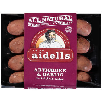Aidells® Artichoke & Garlic Smoked Chicken Sausage 12 oz. Pack