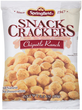 Springfield® Chipotle Ranch Snack Crackers 3.5 oz. Bag