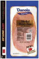 Danola Supreme Smoked Sliced Ham Honey 8 Oz Zip Pak