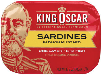 King Oscar® One Layer Sardines in Dijon Mustard 3.75 oz. Tin