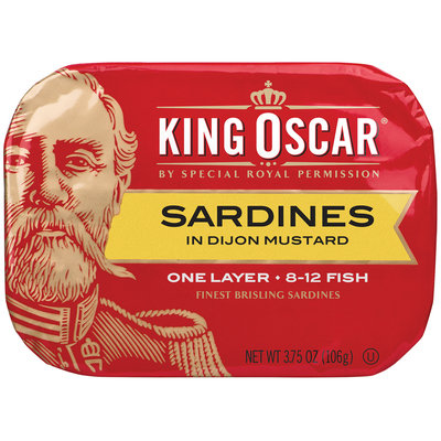 King Oscar® One Layer Sardines in Dijon Mustard 3.75 oz. Tin